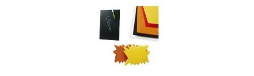 Etiquettes et cartons fluo