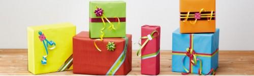 Papiers cadeaux kraft unis