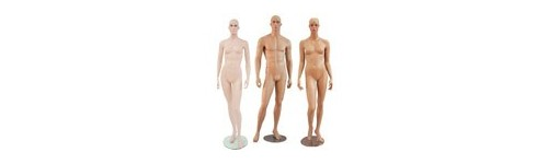 Mannequins fibre de verre sans perruque